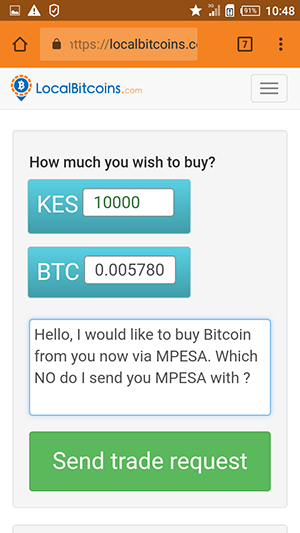 Buying Bitcoin in Kenya with MPesa
