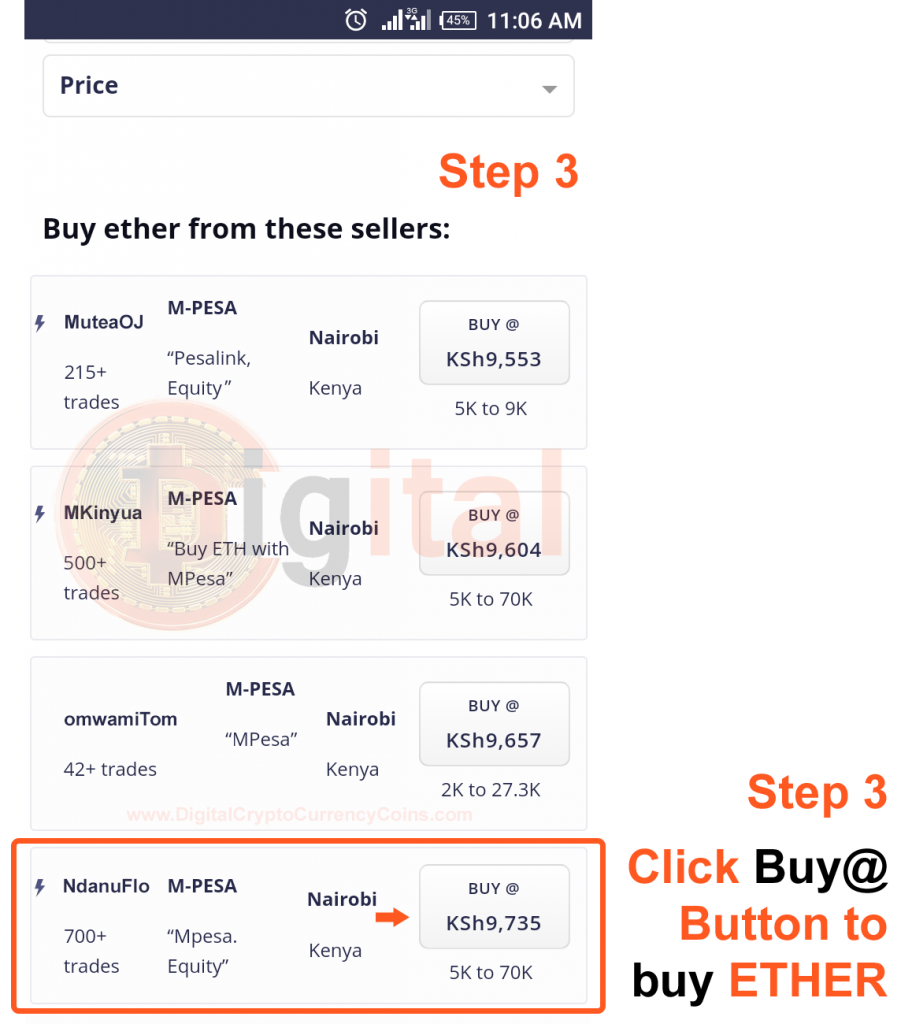 Choose Kenyan Ethereum Trader with Whom You Will Buy Ethereum From Using MPesa