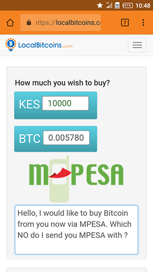 Buy Bitcoin with MPesa